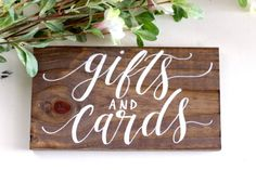 Gifts and Cards Sign, Cards Sign, Rustic Wooden Wedding Sign, Gift Table Sign | 10x5.5