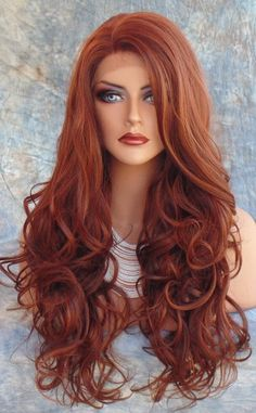 Lace Front Wig COLOR RED F33.130 LONG FLOWING SOFT WAVES SEXY US SELLER *272 in Health & Beauty, Hair Care & Styling, Hair Extensions & Wigs | eBay
