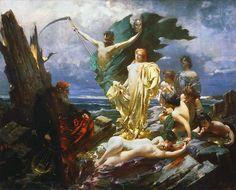 """Franciszek Żmurko (1859-1910)     """"Przeszłość grzesznika"""" ( Widzenie grzesznika) ,1895"""