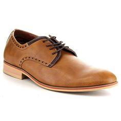 Ferro Aldo Men's Two-Tone Lace Up Oxford Shoes