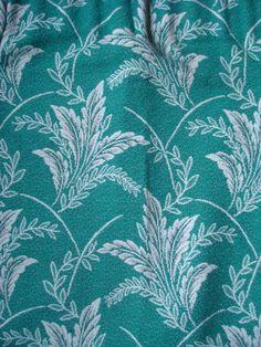 Vintage Retro 50s 60s Pair of Curtains Green Leaf Design #Unbranded #VintageRetro