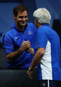 Roger Federer and Bjorn Borg