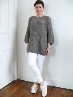 Pull Benoit Cardigan Au Crochet, Sweater Knitting Patterns, Knit Crochet, Winter Outfits Women, Knitwear, Sewing Patterns, Normcore, Pullover, Sweaters