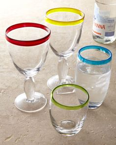 """""""Festival"""" Glassware at Horchow.  $35. Fun! #Horchow"""