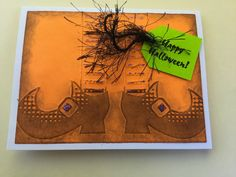 Sale 2 Halloween Handmade Cards: Happy Halloween Witch By Wcards