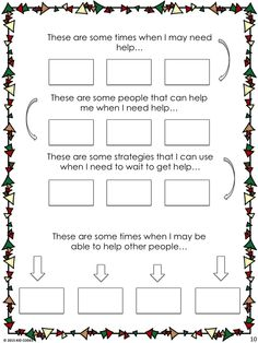 Social Story: It's Okay To Ask For Help. This is a sample page from a social…