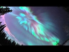 Can't wait to see this! Time-lapse movie of the coronal aurora appeared over Fairbanks, Alaska. Red aurora was also captured. Polo Norte, Aurora Borealis, Beautiful Sky, Beautiful Places, Borealis Lights, Northen Lights, Fairbanks Alaska, Landscape Pictures, To Infinity And Beyond