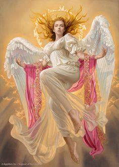 Artist: Tsuyoshi Nagano - Title: Uriel - Card: Phanuel, Archangel of Dogma (Envoy) #angel