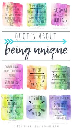 Nurses Week Quotes Discover Quotes about being unique Let these quotes about being different inspire you to be you and live your most unique life. Free printable watercolor quotes about being unique. Quotes Dream, Life Quotes To Live By, Girl Quotes, Me Quotes, Motivational Quotes, Inspirational Quotes, Robert Kiyosaki, Sunday Quotes, Quotes For Kids