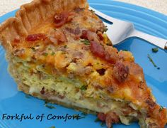 Forkful of Comfort: Bacon & Cheese Quiche
