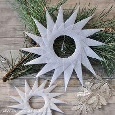 Eine Anleitung für winterliche Origamisterne aus Pergament, findet ihr auf craftyneighboursclub.com
