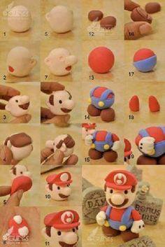 Tutorial para elaborar el personaje de Mario bros de fondant.