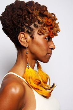 curly loc updo hairstyle