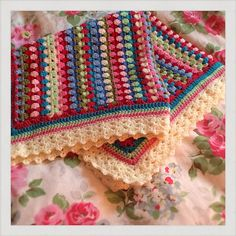 Ravelry: peanut's Cath Kidston inspired baby granny stripe blanket. I must make this.
