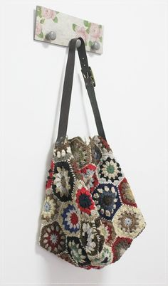 Trendy Crochet Multicolor Hexagon SholderBag by plezilla on Etsy, $79.00