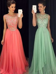 Diyouth Open Back Beaded Prom Dress With Cap Sleeves Silver Beaded A Line Party Gown For Teens,Open back Prom Dress, Beaded prom Dress, Green Prom Dress, dresses for Prom, sexy prom dresses 2016,