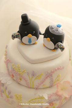 Wedding Cake Topper-love Penguins | Penguins Cake Topper | Pinterest ...