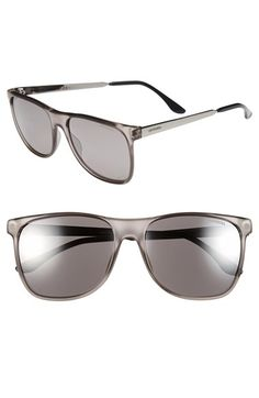 New Carrera Eyewear 57mm Retro Sunglasses in light grey.