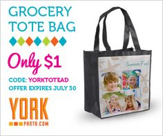 York Photo $$ Get a Grocery Tote for Only $1 + 40 FREE Prints!
