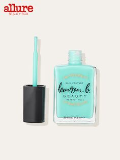 Nothing feels more like spring than a blue-green pedicure. This glossy five-free polish has us craving a piña colada.  Lauren B. nail polish in Santa Barbara Surf, $18 (amazon.com).