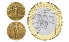 Reference to the 1908 medals can be found in the letterforms of this 2008 £2 by @ttdocherty via @RoyalMintUK