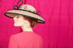 Natural fine straw hat with black veil and twist Winter 2017, Fall Winter, Autumn, Rachel Trevor Morgan, Millinery Hats, Saint James, Black Veil, Fashion Details, Headpiece