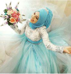 Bridal Hijab, Hijab Wedding Dresses, Hijab Bride, Sixpack Women, Shabby Chic Theme, Muslim Brides, Bridal Separates, Muslim Hijab, Oriental Fashion