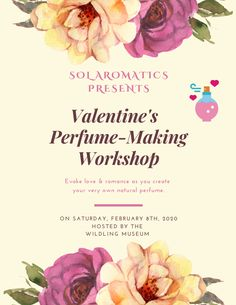 Perfume Making, Create Yourself, Place Cards, Workshop, Place Card Holders, Valentines, News, Natural, Valentine's Day Diy