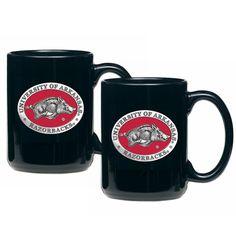 Arkansas Razorbacks Coffee Mug Set of 2