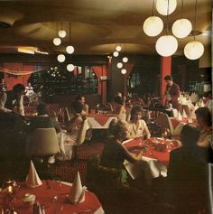 """Vintage Queensland Restaurant Late From """"The Queensland Scene"""" 80s Interior Design, Restaurant Interior Design, Lounge Club, 70s Decor, Vintage Restaurant, Old Photography, Ace Hotel, Old Ads, Googie"""