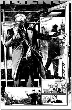 Hellblazer art by Sean Gordon Murphy Comic Book Pages, Comic Book Artists, Comic Artist, Comic Books Art, Storyboard, Comic Layout, Graphic Novel Art, Comic Book Style, Bd Comics