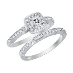 Real solid 10K White Gold 2.51ct Princess brilliant cut Diamond Engagement Ring