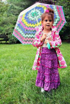 Skirt Week Guest Tutorial: Little Pink Monster's tiered knit maxi