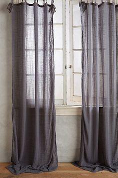 Cotton Tie-Top Curtain #anthropologie