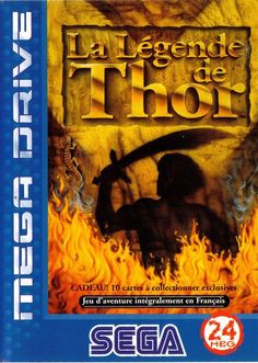 The Story of Thor Box Front The Story Of Thor, Playstation, Nintendo, Sega Master System, 8 Bits, Sega Mega Drive, World Of Fantasy, Sega Genesis, Box Art