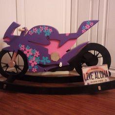 Ducati Princess rocking horse