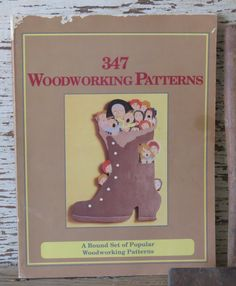 347 Woodworking Patterns Book Cake Toppers by 13thStreetEmporium, $12.00