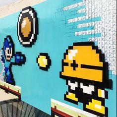 "On instagram by alexisarmandi  #8bits #microhobbit (o)  http://ift.tt/1MBqVGR  ""Megaman glitch in the Matrix"" 3d pixel art made with wood hand painted and cut like and comment #retro #pixel #pixelart #nintendo #nerd #handcraft #myhobby #videogames #videojuegos #vintage #megaman #capcom #alexisarmandi #playstation #xboxone  #8bitart #art #arte #oldschool #glitch #decoration #frame #artist #3d #gamer #game #thematrix #matrix"