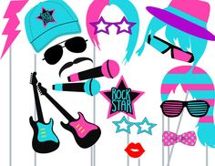 Print Yourself Rock Star Photo Booth Party by MagicalPrintable
