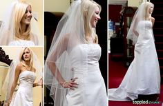 """Reality TV Show """"The Hills"""" actress Heidi Montag wears a L'ezu wedding dress during her show."""
