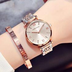 LGXIGE Steel Woman Watches brand luxury rose gold watch Geneva Diamond quartz watch ladies wrist w… Simple Watches, Trendy Watches, Elegant Watches, Casual Watches, Beautiful Watches, Swiss Army Watches, Audemars Piguet, Watch Brands, Luxury Watches
