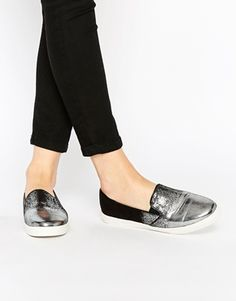 Lost Ink Silver Tipped Plimsolls