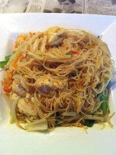 Singapore noodles from Hawkers Street Fare. Awesome asian food.