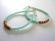 Hoop Earrings Large Beaded Hoop Earrings Gifts by mfrancesjewelry. , via Etsy.