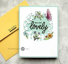 Surprise Inside Spinner Card Video by Jennifer McGuire Ink Butterfly Cards Handmade, Handmade Cards, Tarjetas Diy, Mason Jar Cards, Hero Arts Cards, Jennifer Mcguire Ink, Spinner Card, Altenew Cards, Miss You Cards