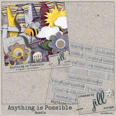 Anything Is Possible Bundle - $3.49 : Digital Scrapbooking Studio Anything Is Possible, Digital Scrapbooking, Studio, Create, Paper, Study