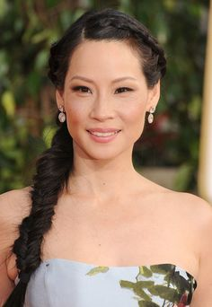 Lucy Liu - Golden Globes 2013 Red Carpet Her hair too! Date Hairstyles, Braids Hairstyles Pictures, Night Hairstyles, No Heat Hairstyles, Hair Pictures, Celebrity Hairstyles, Summer Hairstyles, Braid Hairstyles, Hairstyle Ideas
