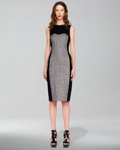 Tweed-Panel Dress by Michael Kors at Neiman Marcus. Orig. $1,95.00 Sal3  $D698.00  Wool/Lycra Italian Fabric