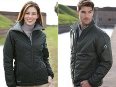 How about a down jacket that is compact, warm and water repellent? Love these styles from Dri Duck.
