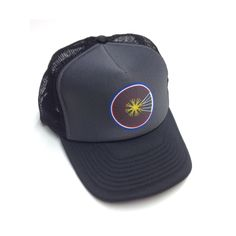 The Colorado Bike Wheel Trucker!  Find this and even more cool Colorado classic tees, truckers, and beanies at www.yocolorado.com #rollwithstyle #coloradogear #classictruckerhat #bikecolorado #colorado #yo